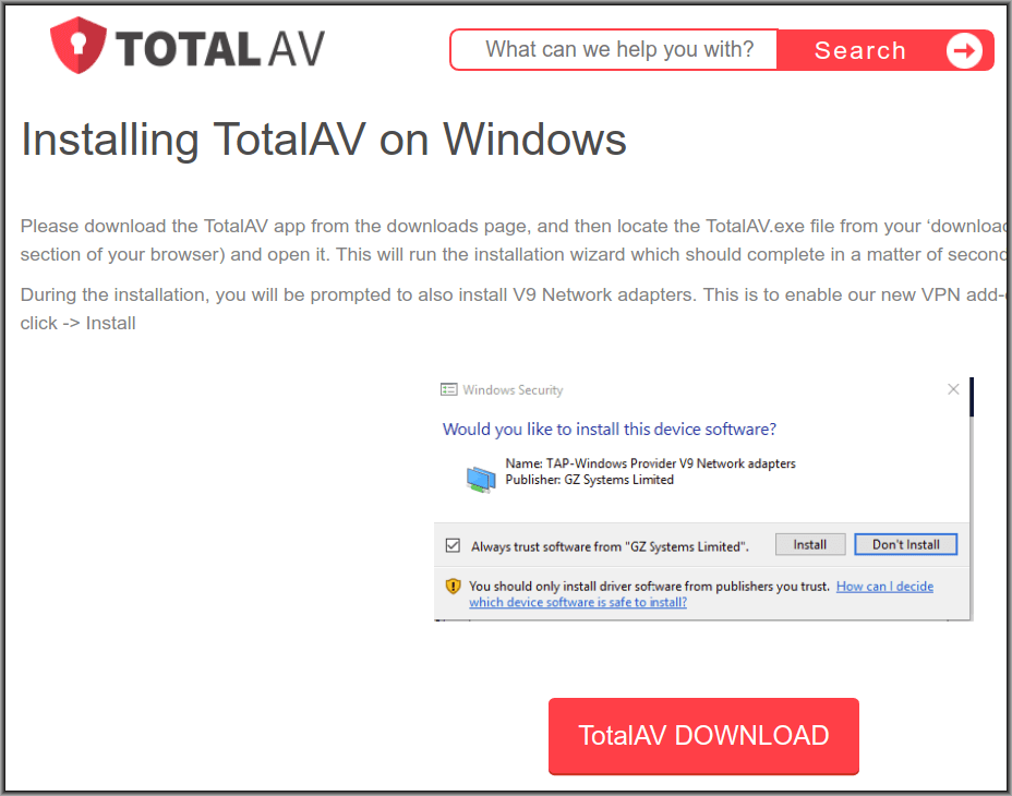 total av free antivirus download