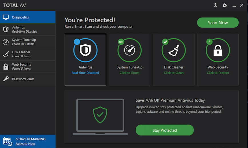 mcafee total protection uninstall mac