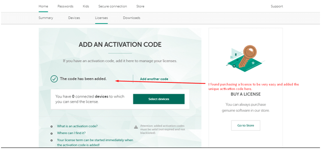 Kaspersky Ease of Use and Setup