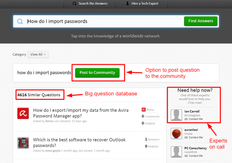 Avira Password Manager Customer Support