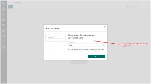 Kaspersky Vault Feature