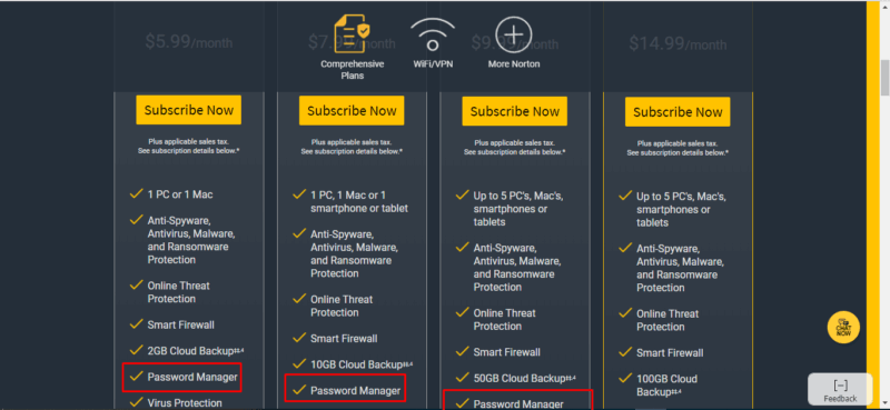 Symantec Norton Plans and Pricing