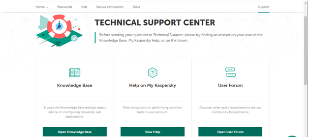 Kaspersky Customer Support