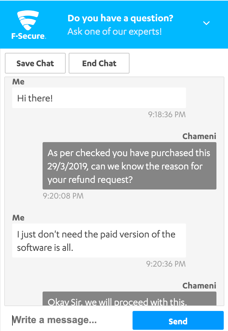 F-Secure's Key Customer Support